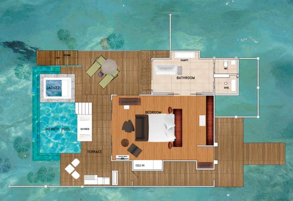 Deluxe Water Studio with Private Pool - Niyama