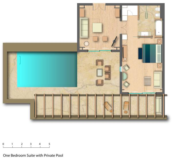 One bedroom suite with private pool - Daios Cove -