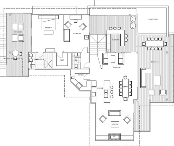 Floorplans for bells beach house nsw luxury holidays in for House floor plans australia