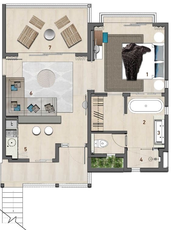 Junior Suite Floor plan - Anahita the Resort